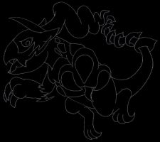 Free Lineart: Thundurus (Therian Form)