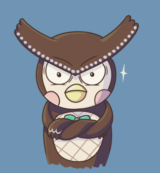 Blathers is Mad by Hanae-Narahashi