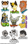 Badge Collection 2016 by AdriOfTheDead