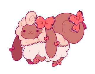 {SOLD!} Flufferbun Adoptable - Pretty In Pink by plushpon