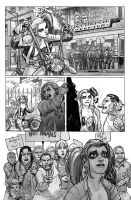 Harley Quinn  Issue # 2 Page 4 Inks with Greytones by StephaneRoux