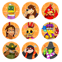 bk buttons by mikaenaka