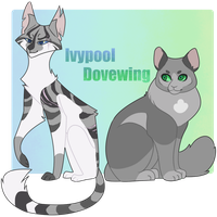 Ivypool and Dovewing by Coconut-Care