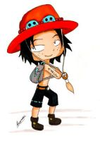 One Piece: Chibi Ace by aaamaaa