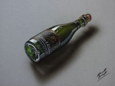 Saison d'Alliance beer DRAWING by marcellobarenghi