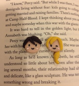 Percy Jackson and Annabeth Chase cabochons by ramenlovervi