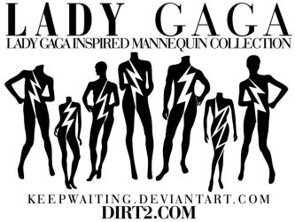Lady Gaga Mannequin Vectors by KeepWaiting