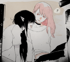 Marceline and Princess Bubblegum by ShitYuuki