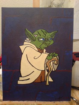 Yoda Painting by mszafran