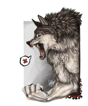 Angry Furball by latent-ookami