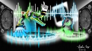 Vector the Croc and Vinyl Scratch by Notrollingallowed