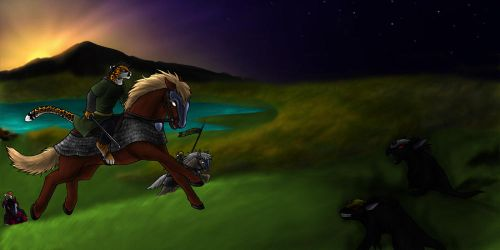 Ridin' Towards the End by 13blackdragons