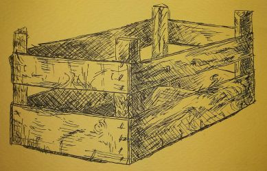 Wooden crate (3/4 view) by Denalentan