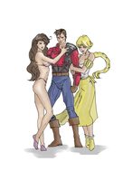 Three drawing (colored) by electronicdave