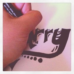 Drawing Typography Art by Lilithia