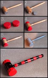 Harley Quinn Mini Hammer build by Joker-laugh