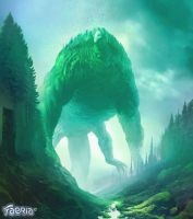 Green Colossus ~ Faeria by saint-max