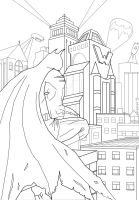 gotham city vectorial sketch by solid-snake92