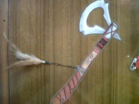 Tomahawk Bookmark by AngelCat180799