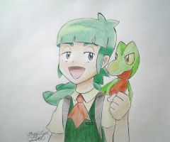 Scottie / Shota and Treecko! by MagicGirl2000