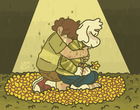 HV| Someone's gotta take care of these flowers by iLee-Font