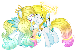 .:Gift:.[[We are like sisters ]] by MLPCrystalHarmony