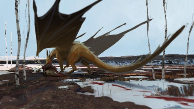 Dragon [is greater than] Deer by HughEbdy