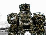 wearable sculpture artist alien astronaut/Ancient by overlord-costume-art