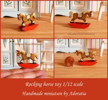 Rocking horse toy 1/12 scale by Adoratia