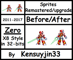 Sprite Zero X8 pose(Remastered/Upgrade) in 32-bits by kensuyjin33