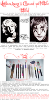 Charcoal portrait tutorial by AnndreaLeeann