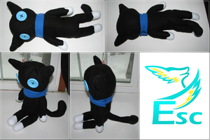 Black Button Eye Cat Plush - Commission by Eternalskyy