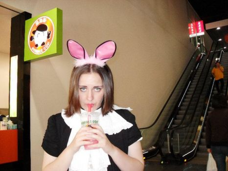 Bunny at Bubble Cup by Reckless-Abandon26
