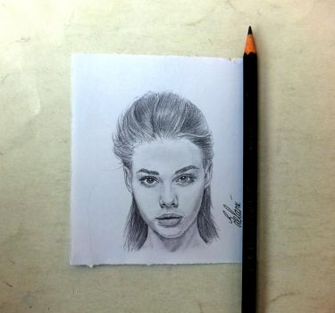 portrait drawing katherine by Quncy