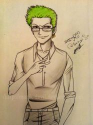 Zoro - One Piece by marik-devil