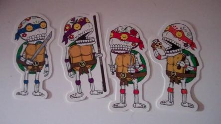 Day of the dead turtles by AprilONeil1984