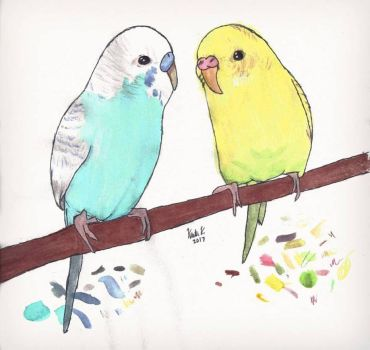 Birb Painting by PatDKkm8