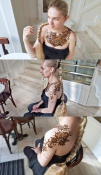 Floral and industrial henna by cydienne