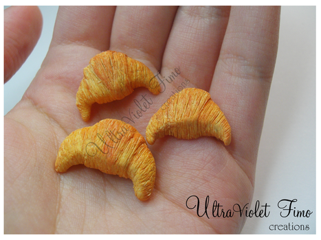 Polymer Clay - Croissant by Crystarbor