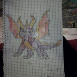 . :Spyro:. Sketch colored by FireKitten86