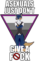 Asexuals dont give a fuck by artwork-tee