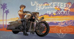 Rocketeer Bike and Pin Up colors by StephaneRoux