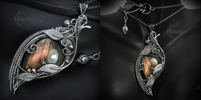 Necklace MAHSTRA ZAYRII - Silver and Labradorite by LUNARIEEN