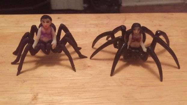 Old and New Arachne Minis (Front) by Cheatou