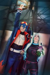 simon y Nia Teppelin cosplay TTGL antispiral by MissWeirdCat
