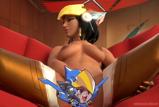 Relaxing after a mission (censored) by pharah-best-girl