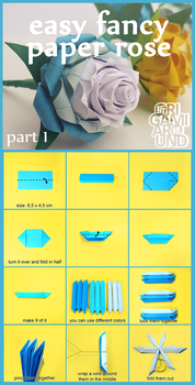Easy Fancy Paper Rose Part 1. by OrigamiAround