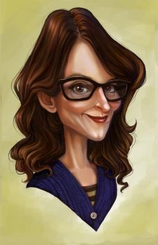 Tina Fey by AdventureIsOutThere
