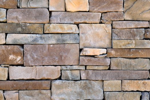 Texture of stacked stone blocks. by TEXTURERUS