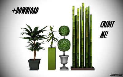 [MMD] Sims 4 Plant Pack 1 (+Download) by AppleWaterSugar